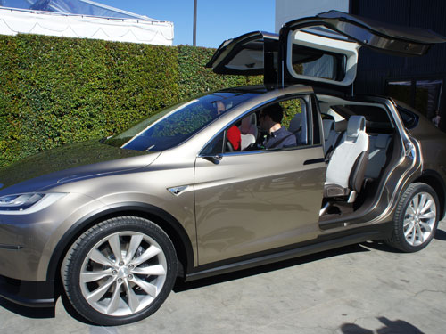 The Model X prototype unveiled in early 2012. Image courtesy of Gigaom.